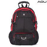 【AOU微笑旅行】台灣扣具 高機能大揹包 電腦後背包(紅色103-008)