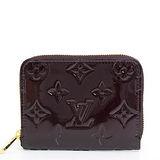 Louis Vuitton LV M93607 Vernis漆皮壓紋信用卡零錢包.紫紅色 預購