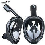 【THENICE 】全罩式浮潛呼吸面罩 傑聯總代理公司貨 限量黑色