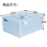 【百貨通】單層半透明抽屜整理箱-30L