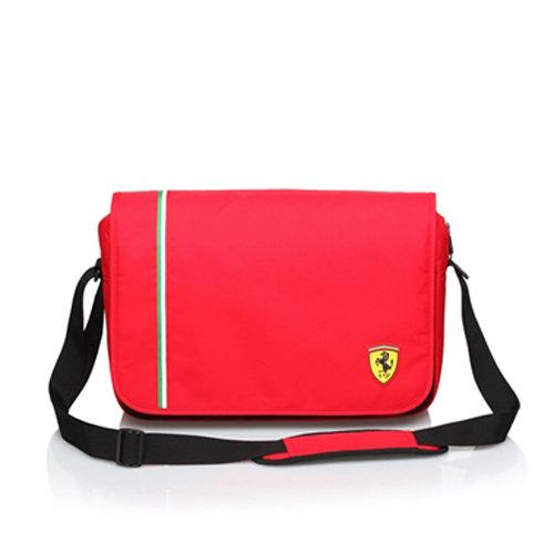 【Ferrari】法拉利 大側背包TF006B-R(紅色)