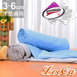 【LooCa】MIT吸濕透氣3-6cm薄床墊布套-拉鍊式(雙人5尺)