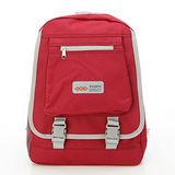【AOKANA奧卡納】超輕量簡約後背包 書包(紅色1976)【威奇包仔通】