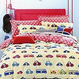 【BEDDING】汽車之家 100%棉雙人加大床包枕套三件式