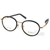 PAUL HUEMAN眼鏡 韓版學院風圓框款(黑-金) #PHF142D C01