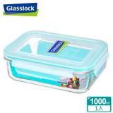 (任選)Glasslock強化玻璃微波保鮮盒 - 長方形1000ml
