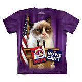 【摩達客】(預購) 美國進口The Mountain 總統不爽貓 純棉環保短袖T恤