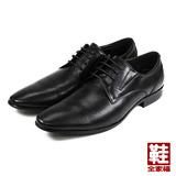 (男) MEURIEIO BELLIEI 真皮壓紋綁帶紳士皮鞋 黑 鞋全家福