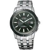 CITIZEN ATTESA 電波系鈦金屬夜光騎士腕錶-黑/38mm AS7001-51E
