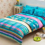 Aileen-快樂夥伴-柔絲絨單人二件式床包組
