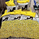【黑貓日記】雙人純棉四件式涼被床包組