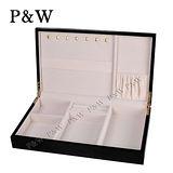 【P&W珠寶收藏盒】 【手工精品】 黑色 木質鋼琴烤漆 首飾盒 收納盒