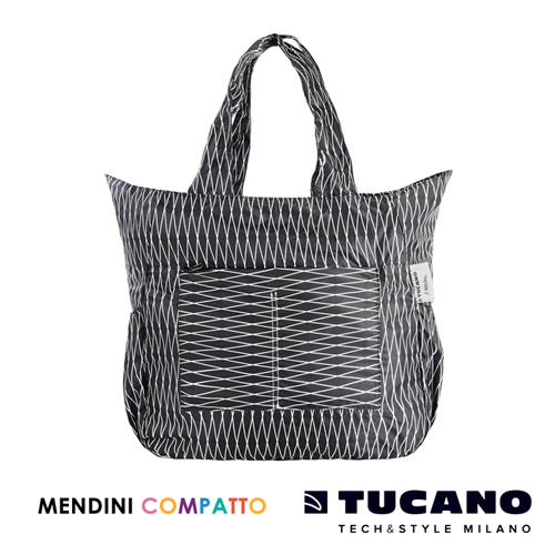 TUCANO X MENDINI 設計師系列超輕量折疊收納托特包(黑)