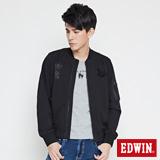 EDWIN MA1短版針織外套-男-黑色