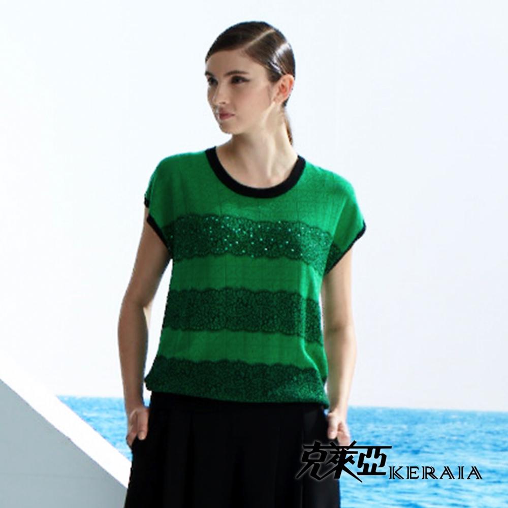 【克萊亞KERAIA】蕾絲孔洞寬版上衣