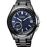 CITIZEN Eco-Drive 光動能競速運動腕錶-灰x黑/43mm AW1354-07H