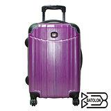 時尚髮絲紋拉桿行李箱-紫(20吋)