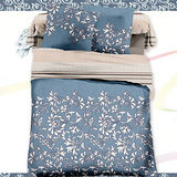 【羽織美】典雅藝術 舒柔棉雙人四件式兩用被床包組