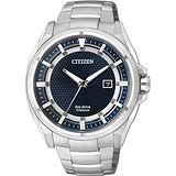 CITIZEN Eco-Drive 超級鈦光動能時尚腕錶-藍/43mm AW1401-50L