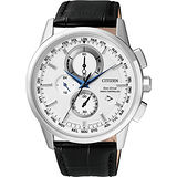 CITIZEN Eco-Drive 萬年曆電波腕錶-銀/43mm AT8110-11A