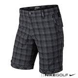 Nike Golf 休閒 排汗 格紋 短褲-黑653787-010