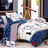 美夢元素 愛尚巴黎 天鵝絨涼被床包組 單人三件式