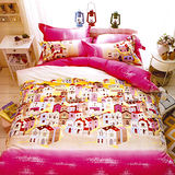 美夢元素 夢幻小屋 天鵝絨涼被床包組 單人三件式