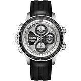 Hamilton KHAKI AVIATION 限量運動機械腕錶-銀x黑/45mm H77726351