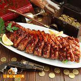 【極鮮配】美式碳烤豬肋排(650g±50g/包)(任選)