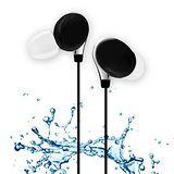 活力揚邑 IPX4防水重低音立體聲可調音管後掛入耳式3.5mm通用運動耳機 個性黑