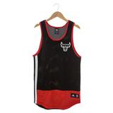 Adidas NBA籃球背心 公牛 紅/黑AO2151