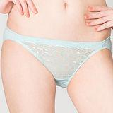 【思薇爾】迷戀星光系列M-XL蕾絲低腰三角內褲(彈珠綠)