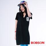 BOBSON 女款V領口長版衣(26107-88)