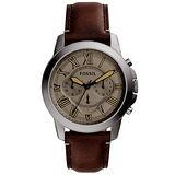 FOSSIL 古典伯爵三環計時腕錶-FS5214