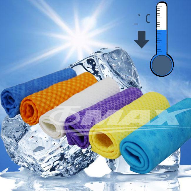 PVA仿麂皮瞬間涼感領巾4入組合包(99x14cm)-1入+方巾3入(顏色隨機出貨)