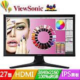 ViewSonic 優派 VP2780-4K 27吋4K IPS不閃屏抗藍光寬液晶螢幕