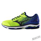 MIZUNO (男) WAVE 男慢跑鞋 WAVE RIDER 19 SW 熒光綠藍-J1GC160490