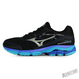 MIZUNO (男) Wave 男慢跑鞋WAVE INSPIRE 12 SW 黑藍-J1GC164552
