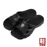 (男) ARRIBA 輕量拖鞋 黑 鞋全家福