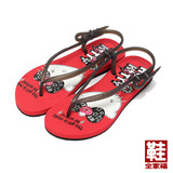(女) HELLO KITTY 搖滾風造型涼鞋 紅 鞋全家福