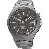 SEIKO Kinetic 鈦 科技人動電能腕錶-銀灰/43mm 5M82-0AT0G(SKA713P1)