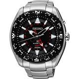 SEIKO PROSPEX GMT人動電能腕錶-黑/46mm 5M85-0AE0D(SUN049J1)