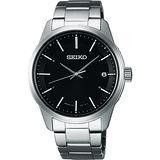 SEIKO SPIRIT 萬年曆太陽能電波腕錶-黑/40mm 7B24-0BJ0D(SBTM233J)