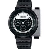 SEIKO X GIUGIARO 限量科幻計時碼錶-銀x黑/43mm 7T12-0BP0D(SCED041J)