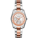 Michael Kors 爵士品味晶鑽大日期計時腕錶-玫瑰金/40mm MK6204