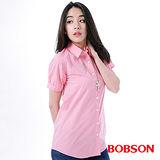 BOBSON 女款素面長版襯衫(24131-13)