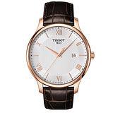 TISSOT 天梭 經典系列簡約紳士男用腕錶/42mm/T0636103603800