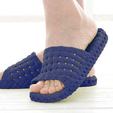 韓版超柔浴室瀝水防滑拖鞋 (男款)- 深藍