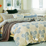 BUTTERFLY 柔絲絨 雙人薄床包枕套三件式 【藝術人生】