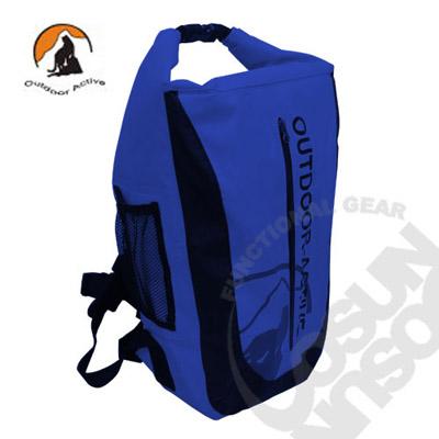【Outdoor Active】暢銷款 WaterProof 500D 40L 專業壓縮防水背包/三用防水袋(雙肩式)隧道式散熱.適溯溪.浮潛.水上活動 (深藍) OA-WP01